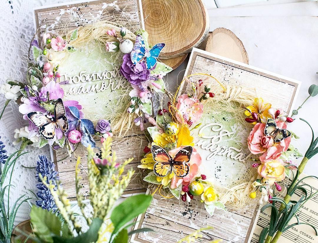 Приколами, скрапбукинг мк открытки с цветами